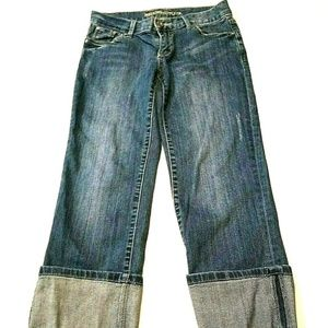 Mossimo Supply Juniors Cropped Jeans Size 3 Cuffed